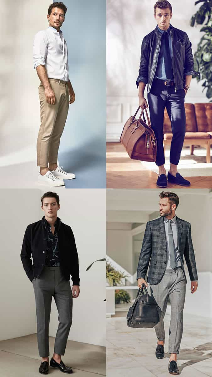 how to wear cropped trousers