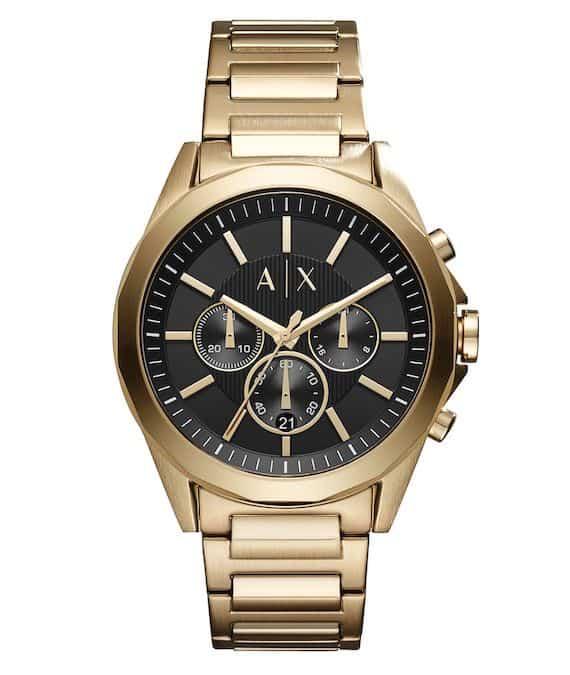 reloj armani exchange dorado