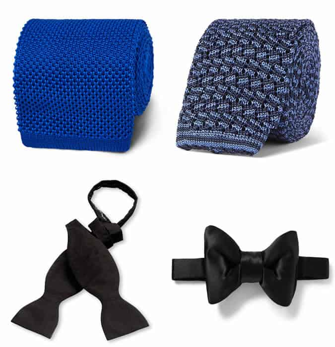 Men's bow ties and knitted ties