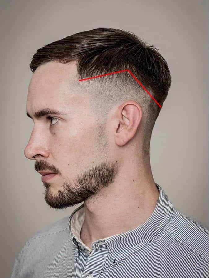 Men's drop fade haircut hairline