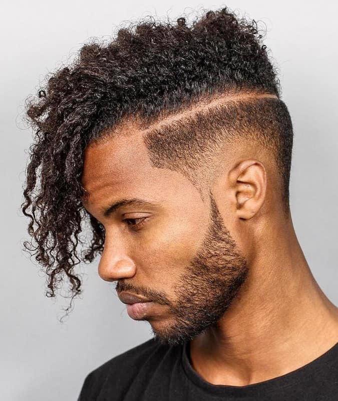 Drop Fade Haircut With Afro Undercut