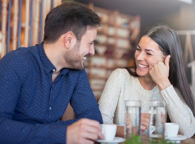 Couple enjoying date