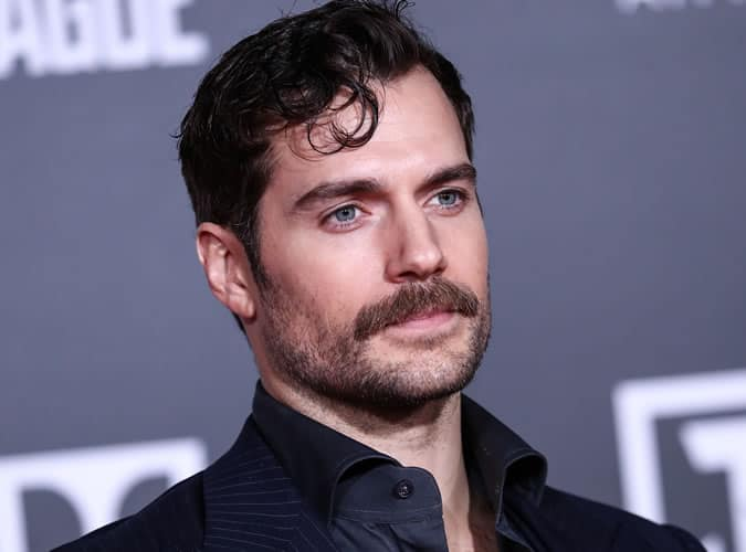 Henry Cavill has been sporting a moustache