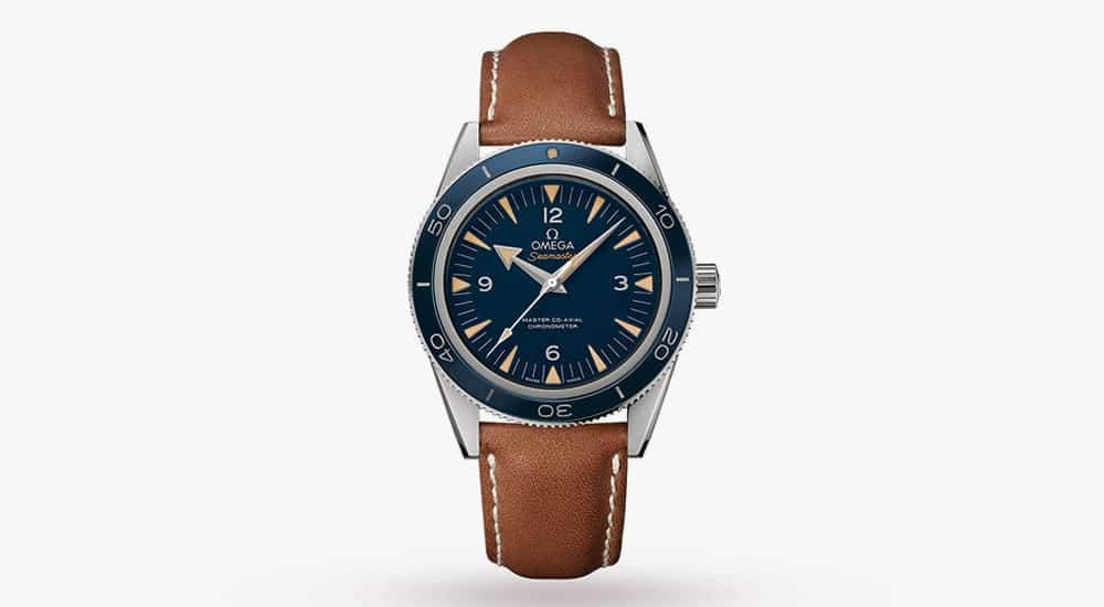 OMEGA SEAMASTER 300 MENS 41MM BLUE DIAL TITANIUM CO-AXIAL AUTOMATIC WATCH