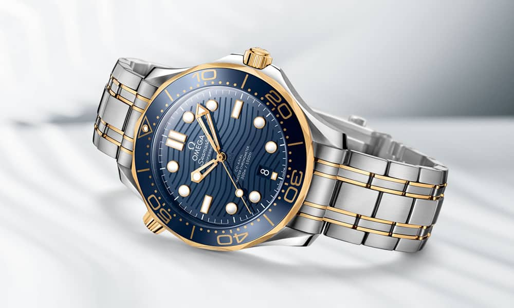 Omega Seamaster 300 Gold And Blue