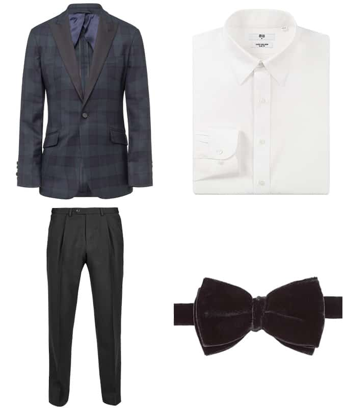 How To Wear Checks With Black Tie