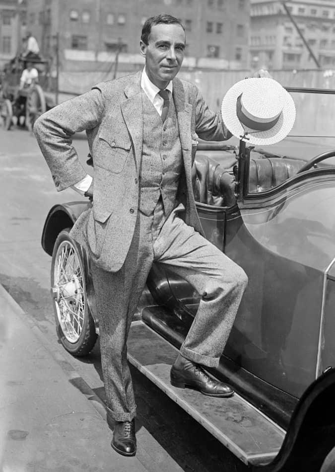Winston Churchill an American novelist in New York City, 1916