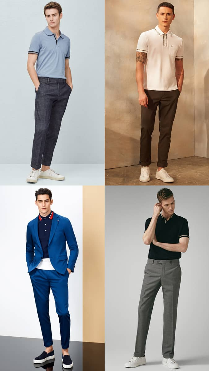 Piped Polo Shirts For Men