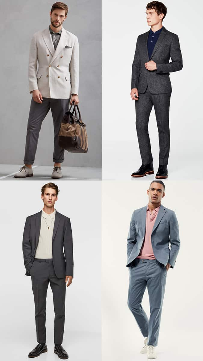 How To Wear A Polo Shirt With A Suit
