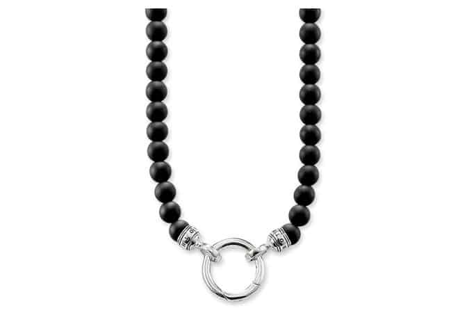 STERLING SILVER Rebel at heart NECKLACE OBSIDIAN