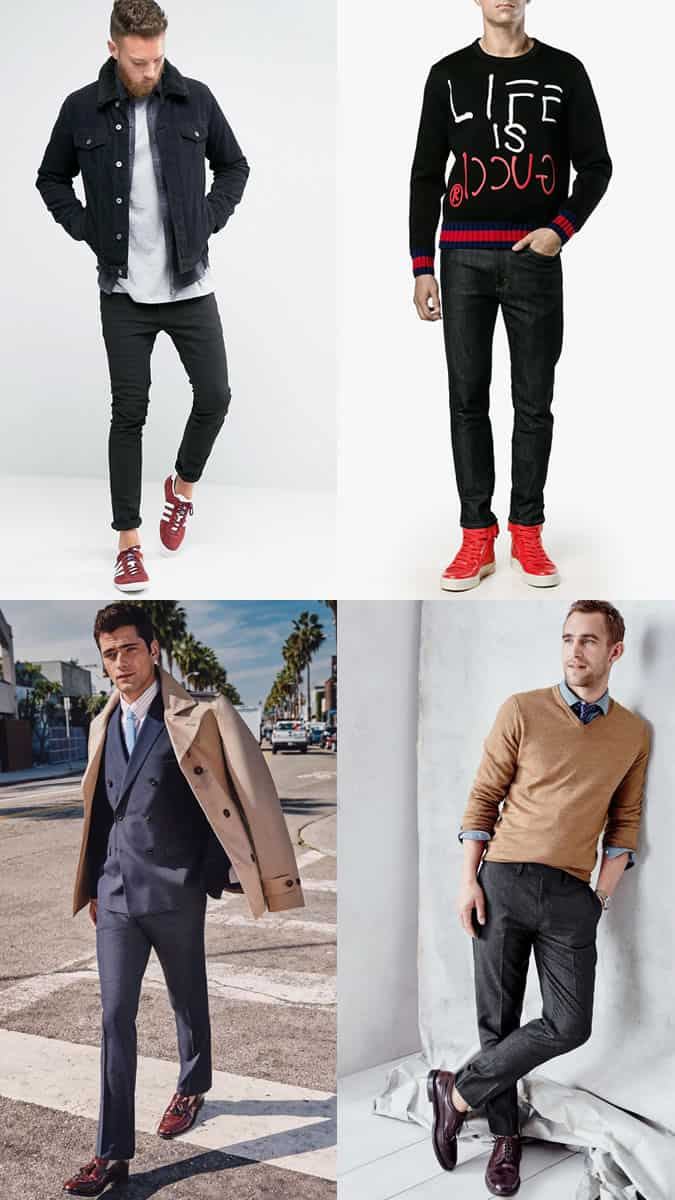 How To Wear Red Shoes And Sneakers