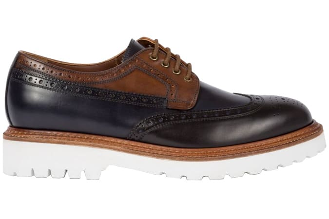 Paul Smith Black And Tan Leather Vegas Brogues