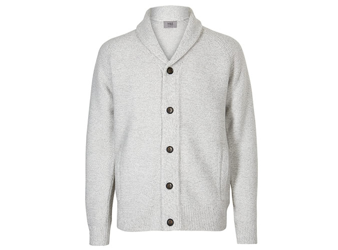 M&S COLLECTION Textured Shawl Cardigan