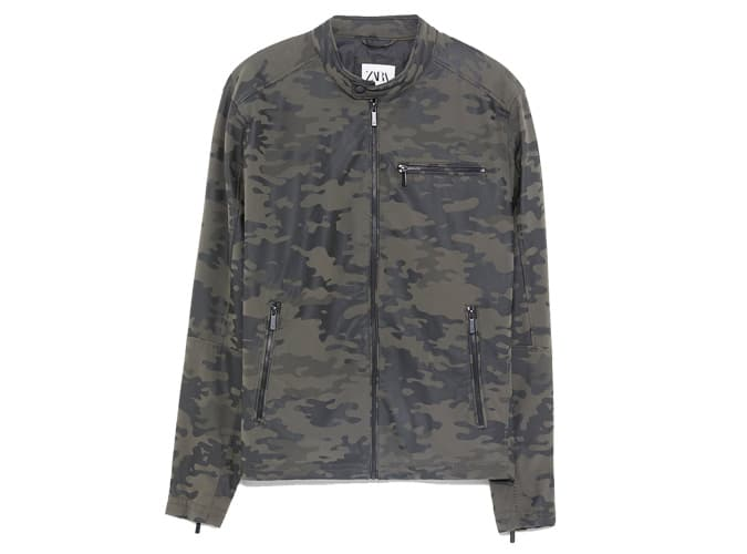 CAMOUFLAGE JACKET WITH COLLAR DETAIL