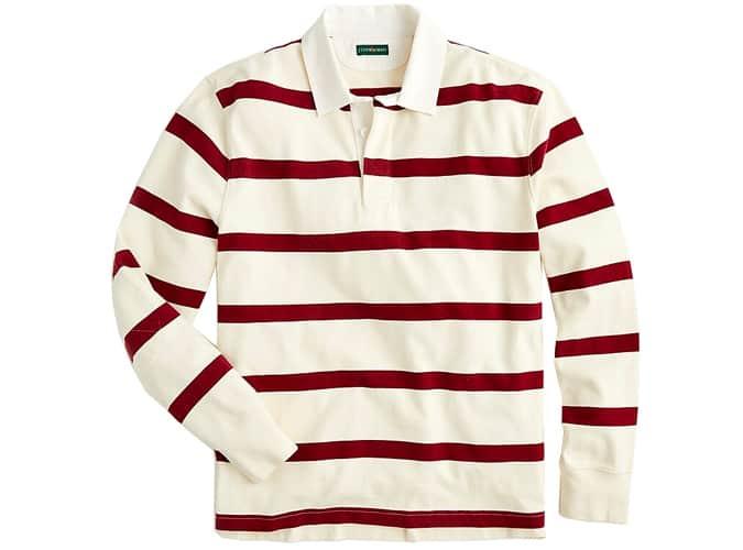 1984 Rugby shirt in burgundy stripe