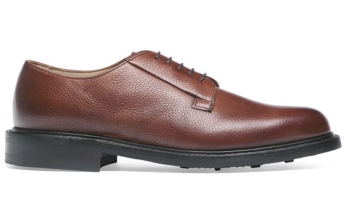 CHEANEY Deal Derby in Mahogany Grain Leather