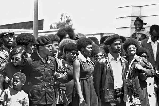 Oakland, California: c. 1971 A funeral for Black Panther George Jackson
