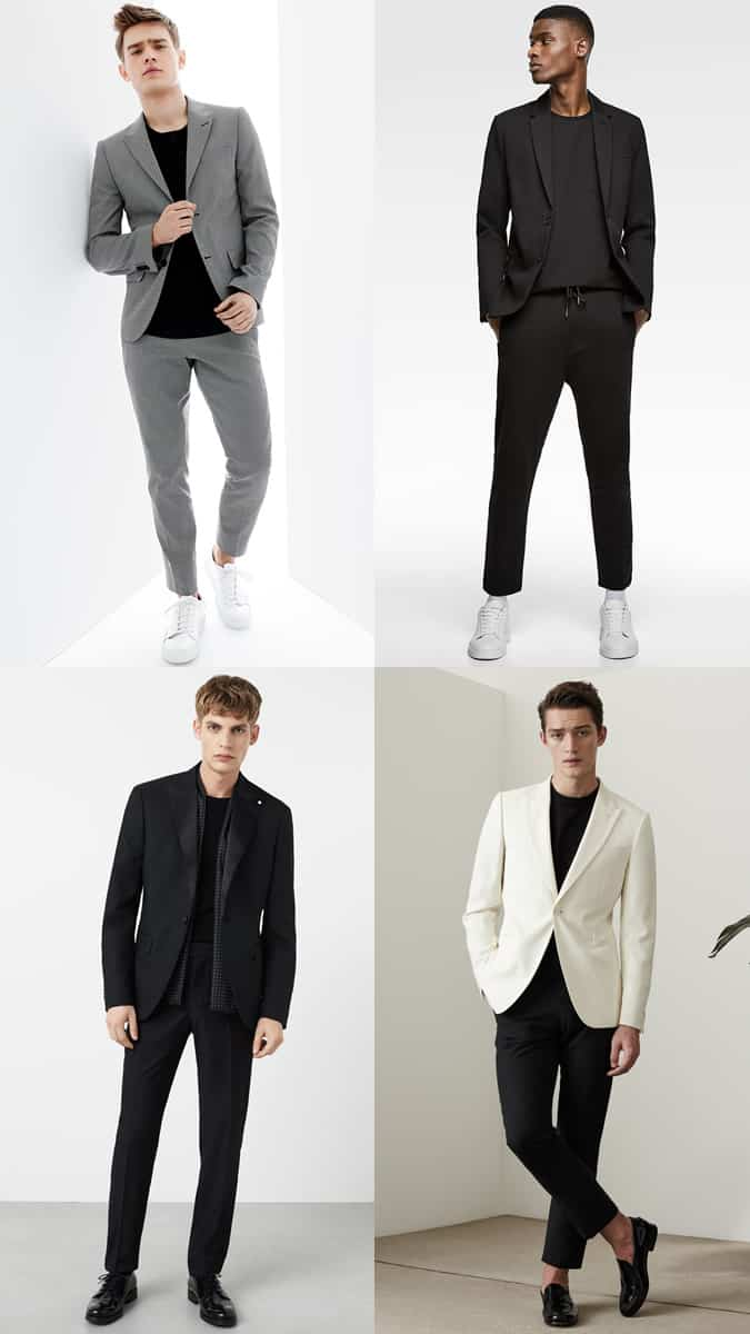 Black t-shirt with tailoring