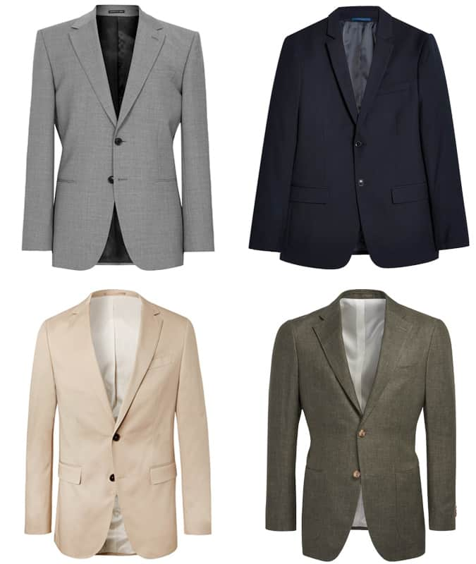 Two-piece suits for a wedding