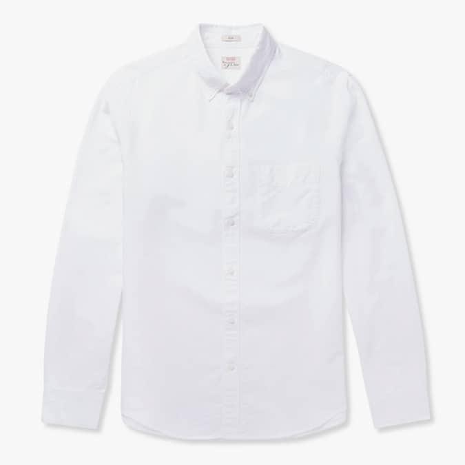 J.CREW Slim-Fit Button-Down Collar Cotton Oxford Shirt