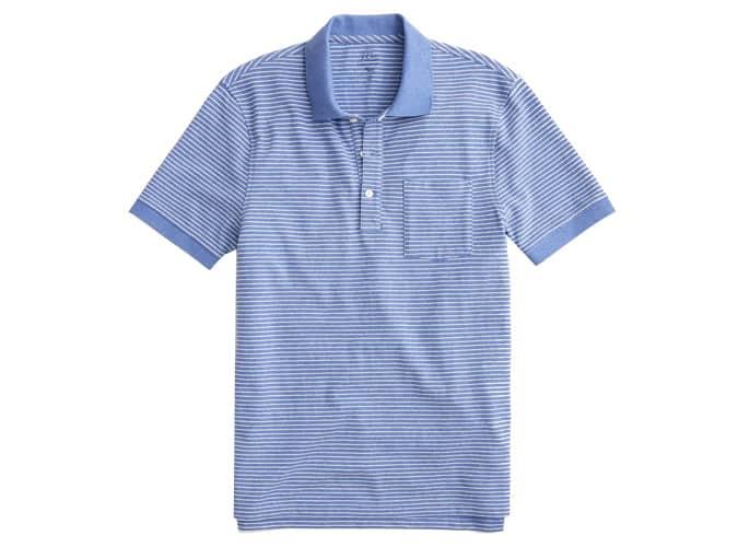 Stretch piqué polo shirt in stripe