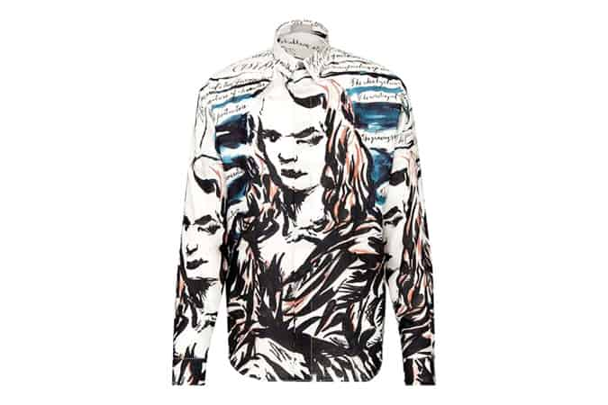 SILK SHIRT, DIOR AND RAYMOND PETTIBON PRINT