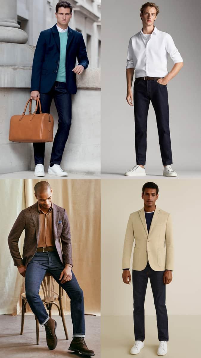 How to wear indigo jeans to work