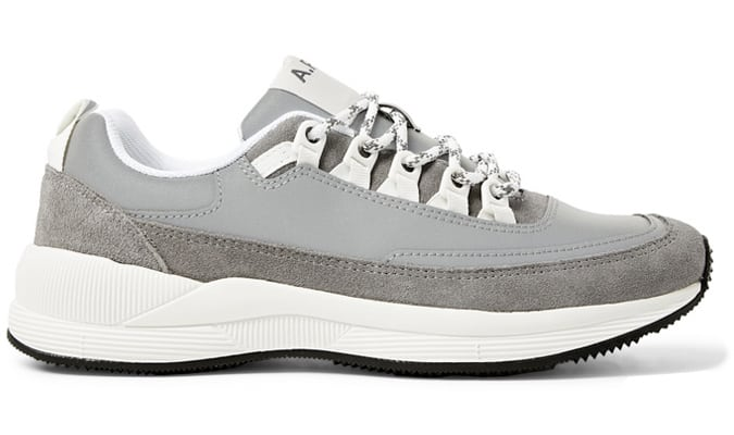 A.P.C. Jay Reflective-Panelled Suede Sneakers