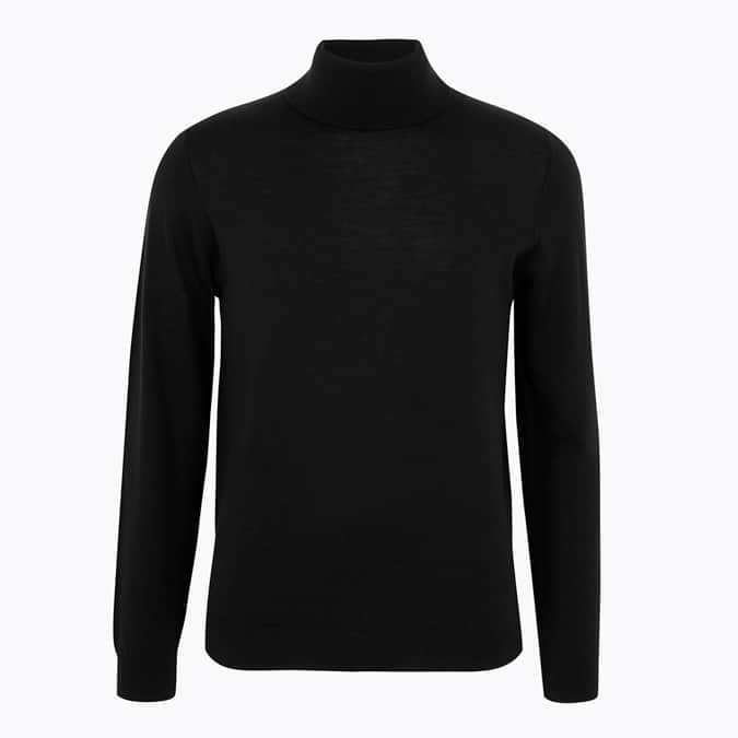 M&S COLLECTION Pure Extra Fine Merino Wool Roll Neck Jumper