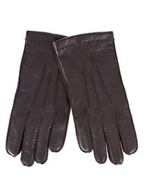 John Lewis Wool Lined Handsewn Leather Gloves Brown