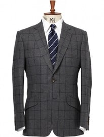 Chester Barrie Windowpane Check Blazer Grey/navy