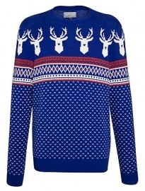John Lewis Save The Children Christmas Jumper Colbalt Blue