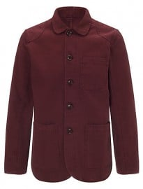 John Lewis & Co. Garment Dye Work Wear Jacket Oxblood Red