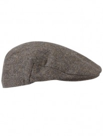 Austin Reed Brown Textured Flat Cap