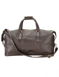 Austin Reed Chocolate Brown Leather Holdall