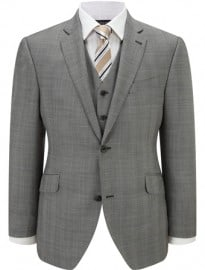 Austin Reed Contemporary Fit Grey Check Jacket
