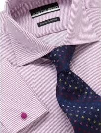 Austin Reed City Pink Fine Stripe Double Cuff Shirt