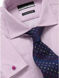 Austin Reed City Pink Fine Stripe Double Cuff Shirt