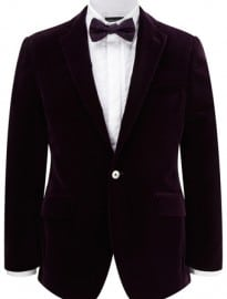 Austin Reed Contemporary Fit Plum Velvet Jacket