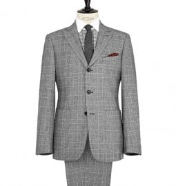Reiss Chelsea Single Breasted Check Suit Black