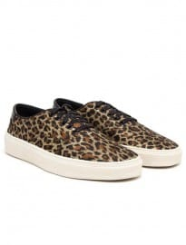 Saint Laurent Metallic Leopard Print Skate Shoes
