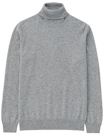 Uniqlo Men 100% Cashmere Polo Neck Sweater