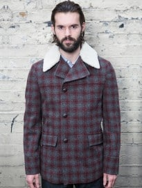 Burton Montague Burton Check Car Coat