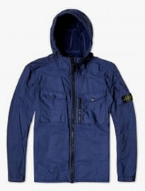 Stone Island Flock Nylon Hooded Shirt Jacket