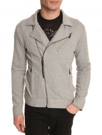 Eleven Paris Grey Jersey Biker Jacket