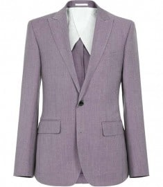 Reiss Pritchard Two Button Peak Blazer Purple