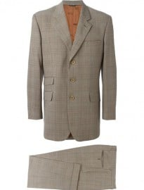 Moschino Vintage Checked Tweed Suit