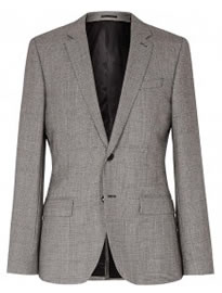 Reiss Hancock B Wool Check Blazer Grey
