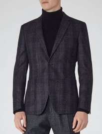 Reiss Jagger Checked Textured Blazer