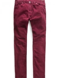 He By Mango Slim-fit 5 Pocket Corduroy Trousers